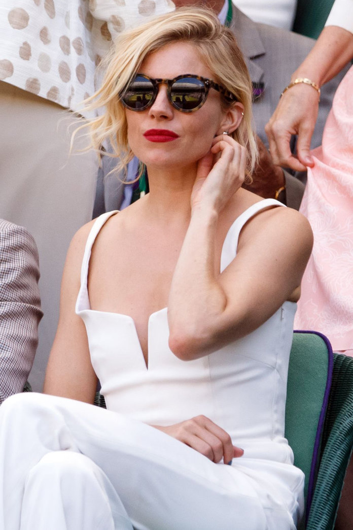 Sienna Miller Wore THIS White Jumpsuit At Wimbledon And We Are So In Love