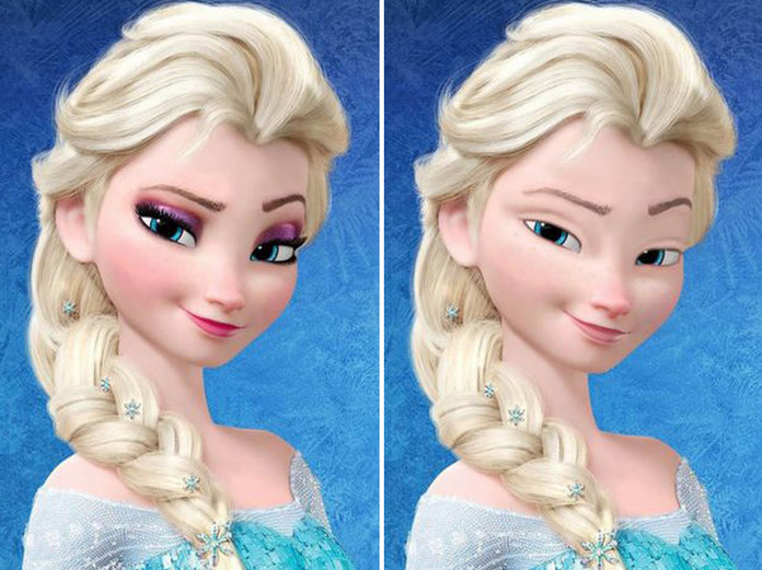 Behold! Your Favourite Disney Princesses Without A Stitch Of Make-Up