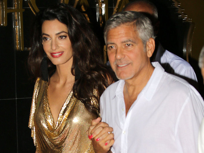 George & Amal Clooney Awkwardly Mismatch Their Date Night Outfits (We Feel You, Amal)