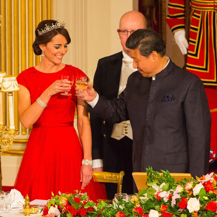 Colour, Crown, Cost - The Anatomy Of Kate Middleton's State Banquet Look