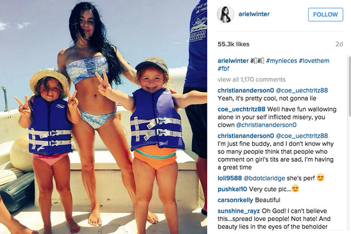 Why Ariel Winter's Bikini Backlash Is A Win For Feminists Everywhere