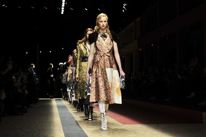 Yesterday At MFW: Prada Totally Killing It And The Show That Was Literally On Fire