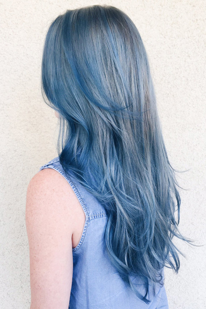 Why We're Kind Of Obsessed With The New Denim Hair Colour Trend