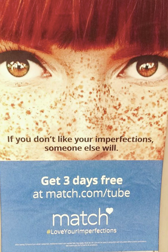 Match.com's Freckle Advert Has NOT Gone Down Well – Why Your Freckled Face Is Totally Perfect