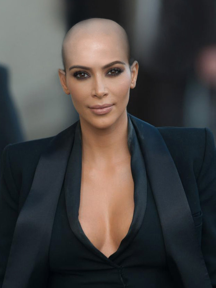 Kim K Copied Kanye (And Amber Rose) And Shaved Her Head