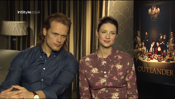 'Outlander' Stars Sam Heughan And Caitriona Balfe Play InStyle Agony Aunts