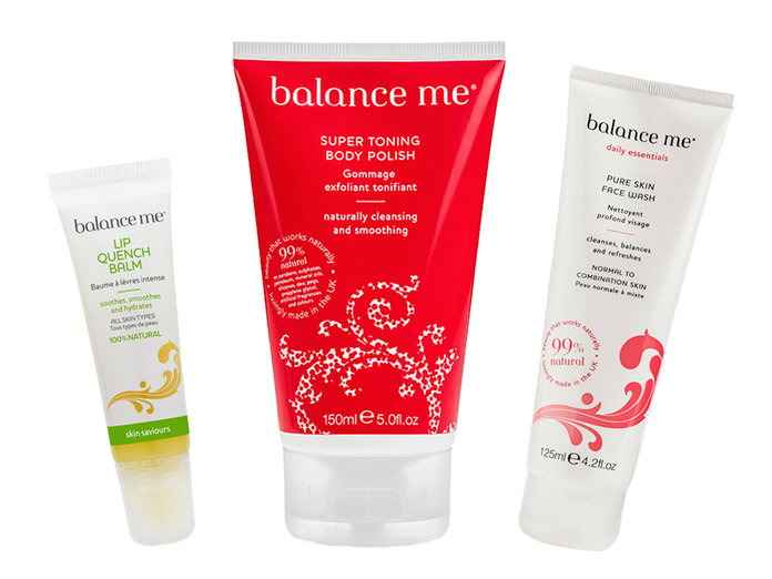 Free With Our September Issue: One Of These Three Amazing Balance Me Beauty Products