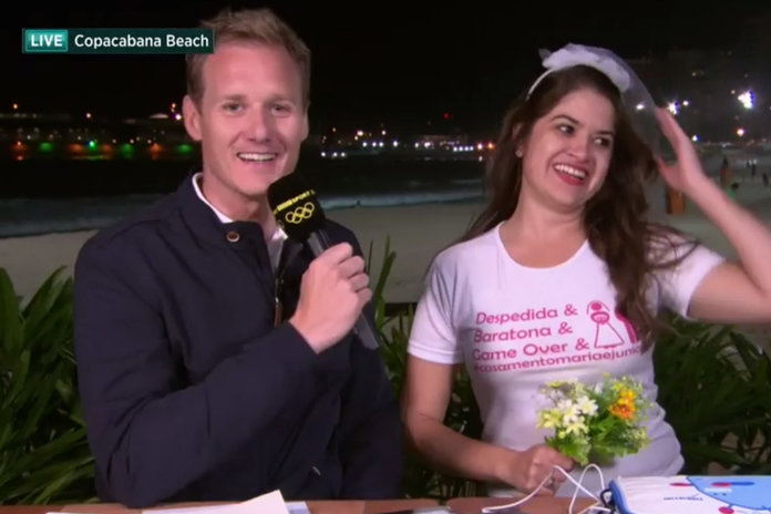 This Olympics Presenter Handles Live TV Crashers Like A Pro