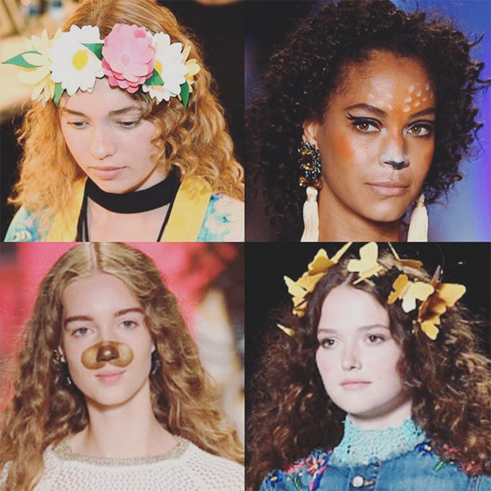 Desigual's SS17 Snapchat Make-Up Is Giving Us Costume Inspiration