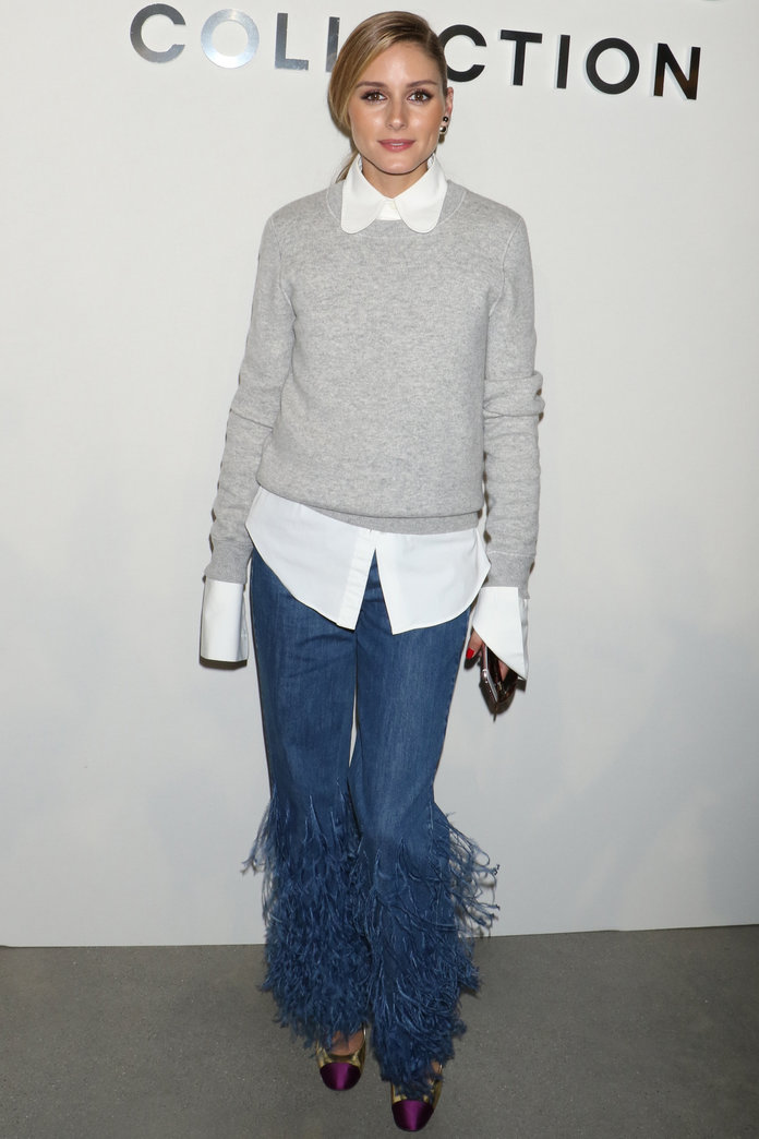 Olivia Palermo's Feathered Jeans Are Unlike Anything We've Ever Seen Before