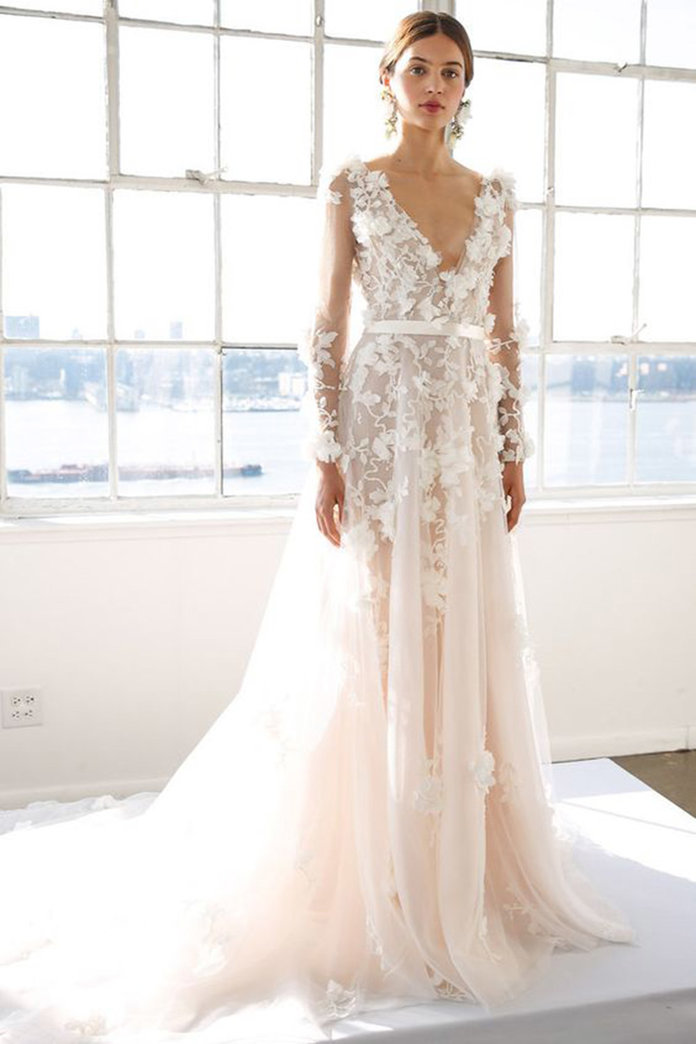 The most popular lace wedding dresses according to for Pinterest wedding dress lace