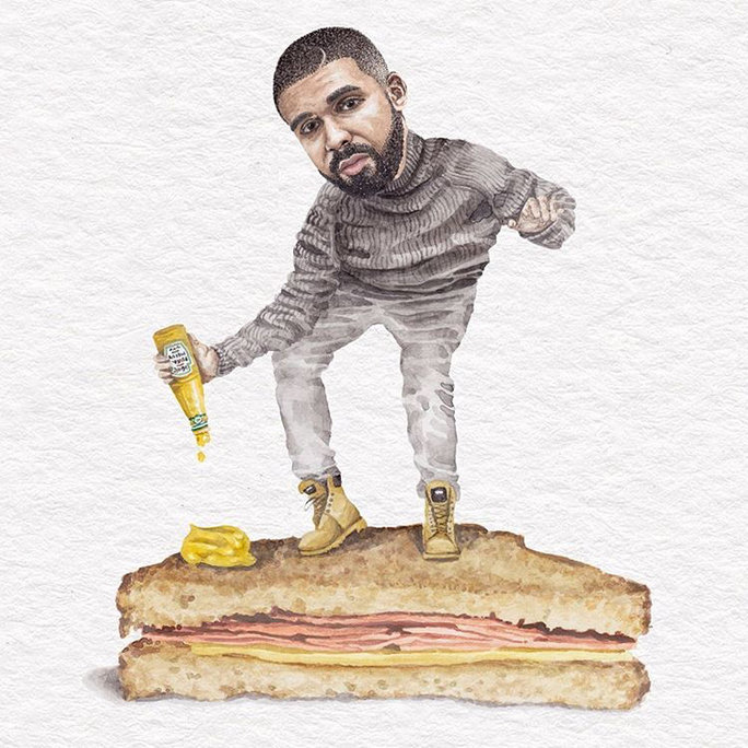 You Need To Follow The 'Celebs On Sandwiches' Instagram