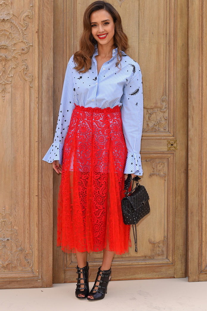 The New Way To Wear A Sheer Skirt