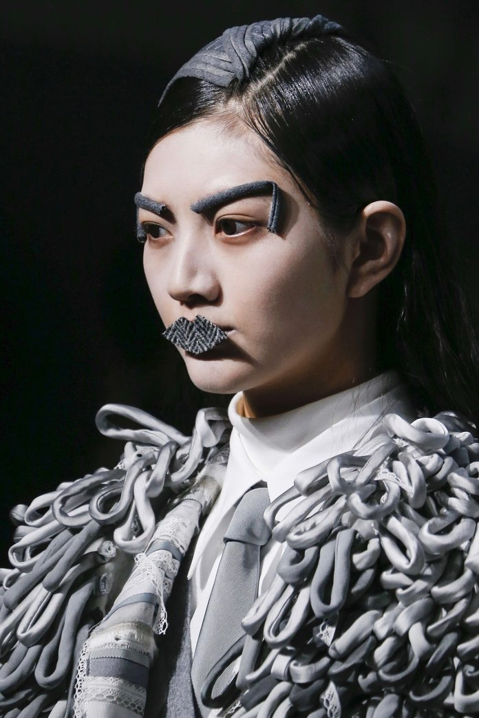 Fabric Lips And Metallic Tears, The Boldest Beauty Looks From NYFW