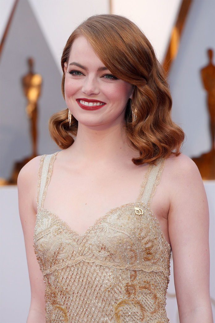 Can You Spot the Political Statement on Emma Stone's Oscars Gown?