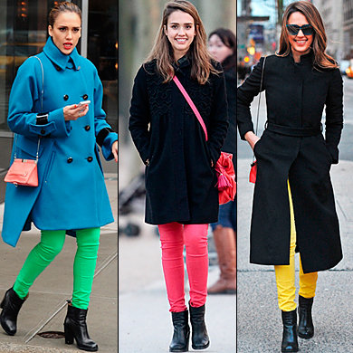 Celebrities In Coloured Jeans