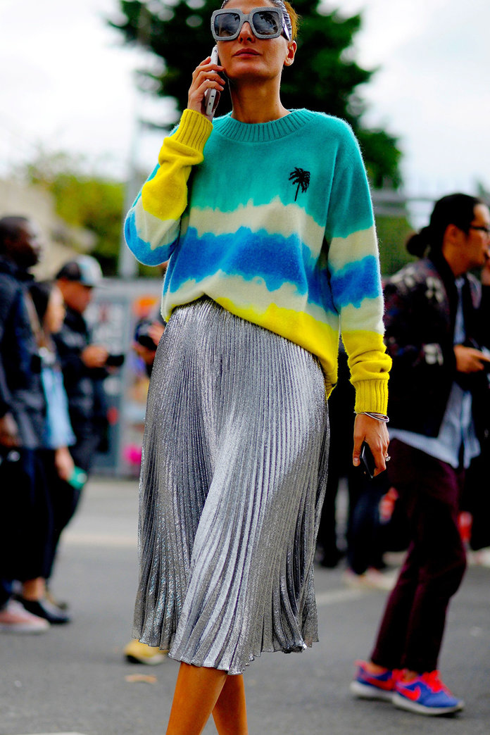 13 Pleated Skirts To Wear With Knitwear For Alexa Chung Chic