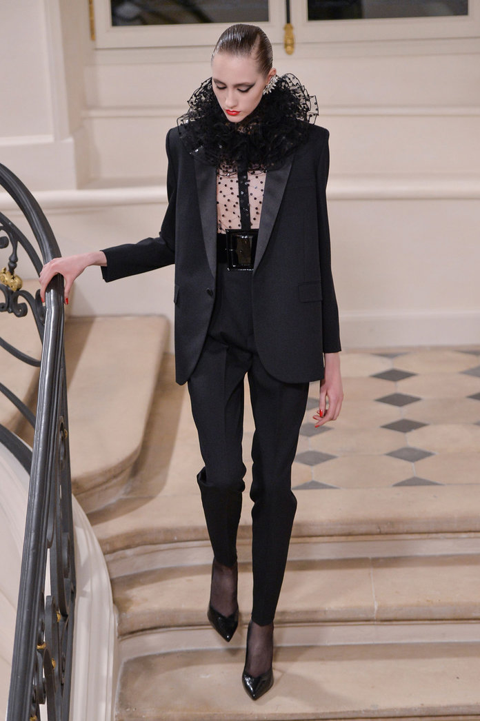 Every Single Look From Hedi Slimane's Final Saint Laurent Show...