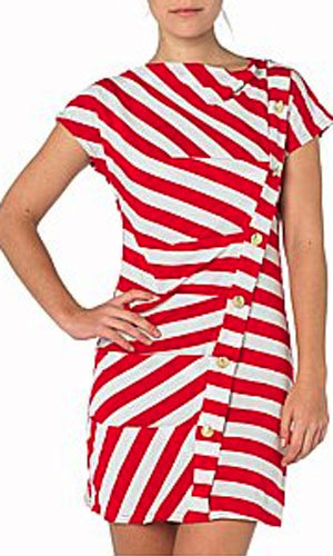 Button stripe jersey dress, was £22, now £10, New Look