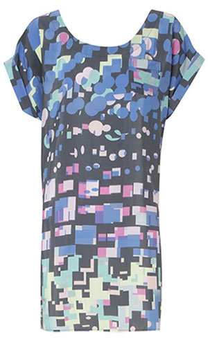 Printed T shirt dress, was £40, now £20, Oasis