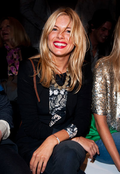 London Fashion Week Spring 2011 - Sienna Miller at Matthew Williamson