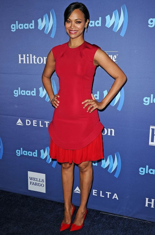 Zoe Saldana GLAAD Awards