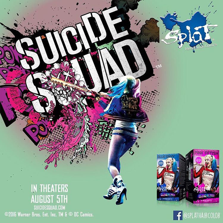 Suicide Squad Splat Hair Dye - Embed 1