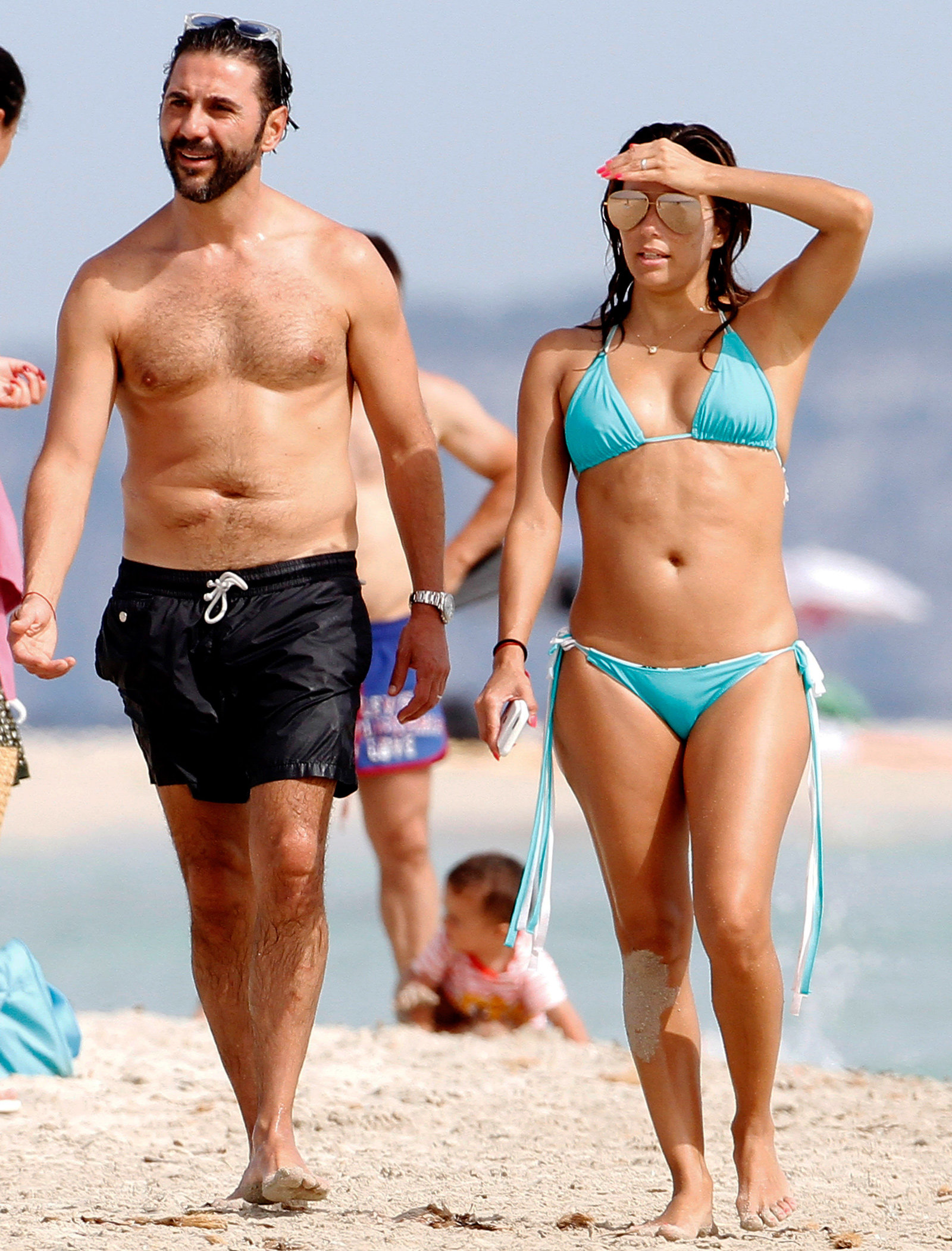 Eva Longoria and Jose Baston Beach - 2
