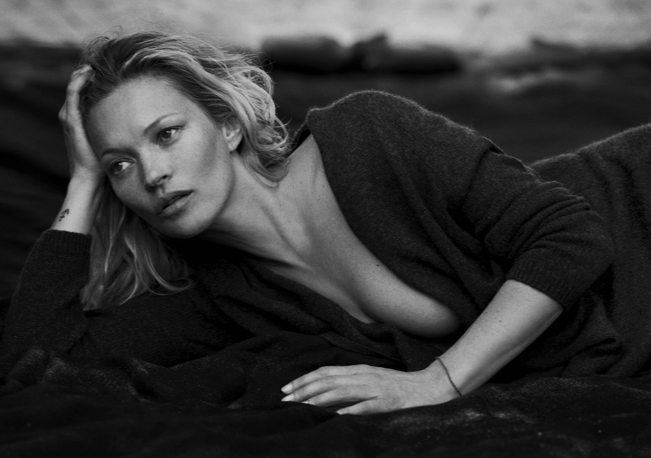 Kate Moss in Naked Cashmere Campaign - Embed