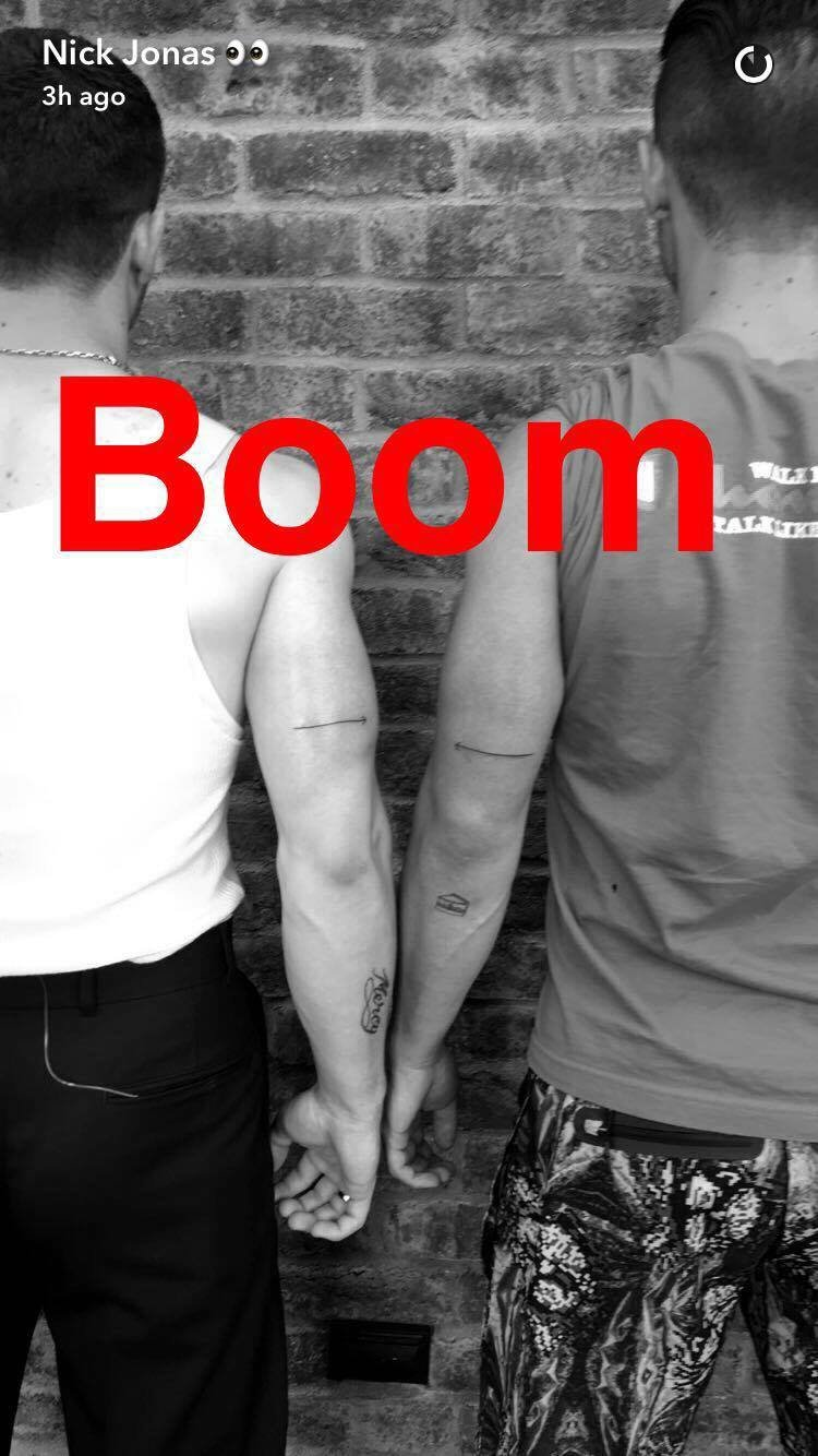 Joe and Nick Jonas Tattoos