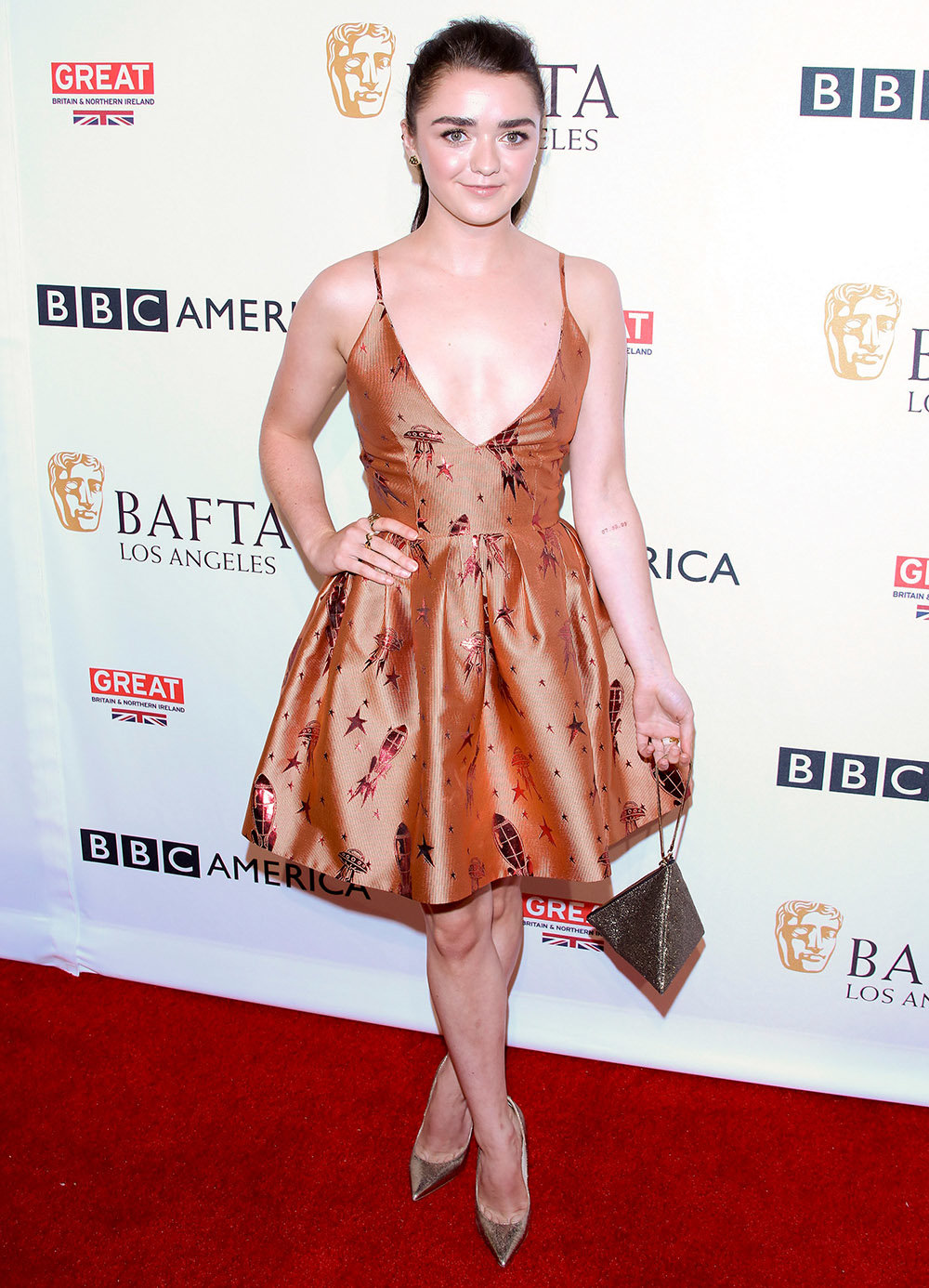 WEST HOLLYWOOD, CA - SEPTEMBER 17: Maisie Williams attends the BBC America BAFTA Los Angeles TV Tea Party at The London Hotel on September 17, 2016 in West Hollywood, California. (Photo by JB Lacroix/WireImage)