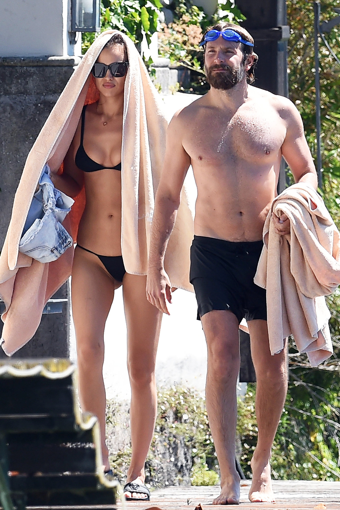 Irina Shayk Takes A Dip In Italy With Boyfriend Bradley