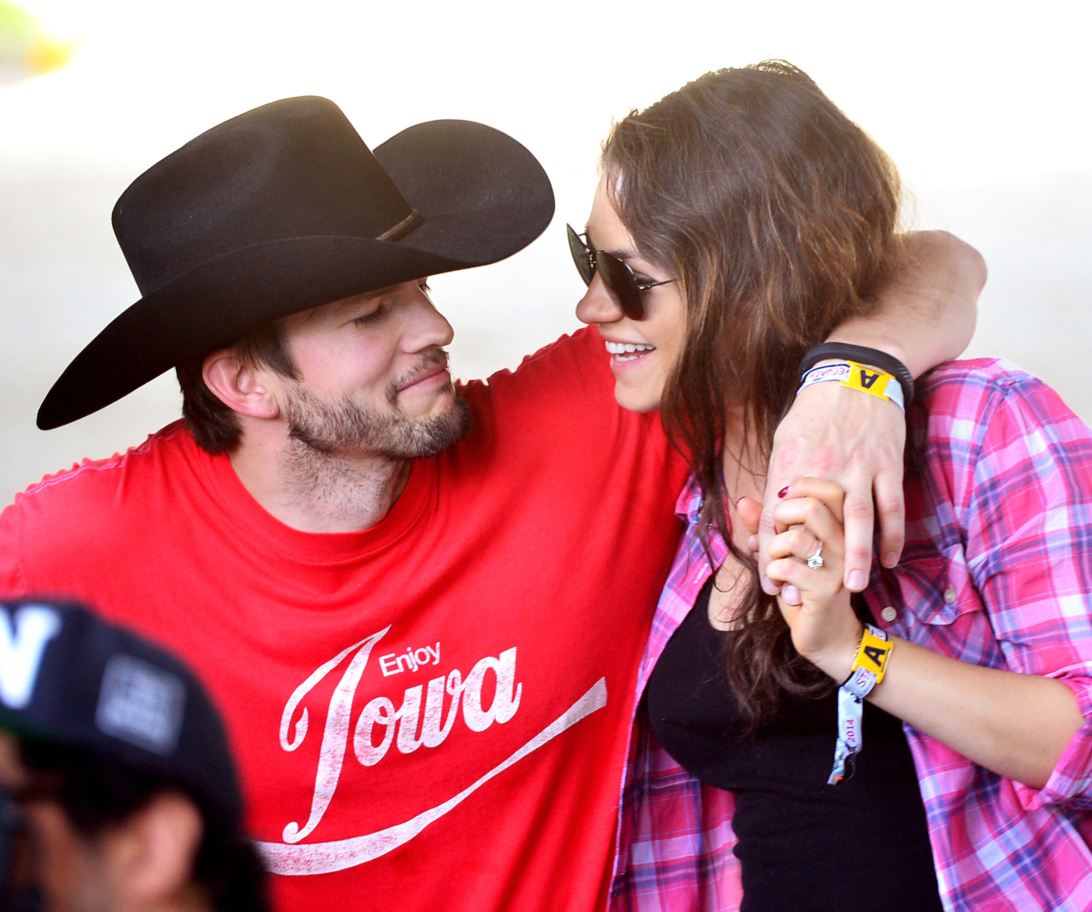 Ashton Kutcher and Mila Kunis - April 25, 2014