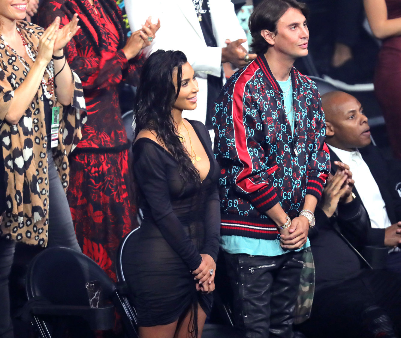 NEW YORK, NY - AUGUST 28:  Kim Kardashian West and Jonathan Cheban attend the 2016 MTV Video Music Awards at Madison Square Garden on August 28, 2016 in New York City.  (Photo by Neilson Barnard/MTV1617/Getty Images for MTV)