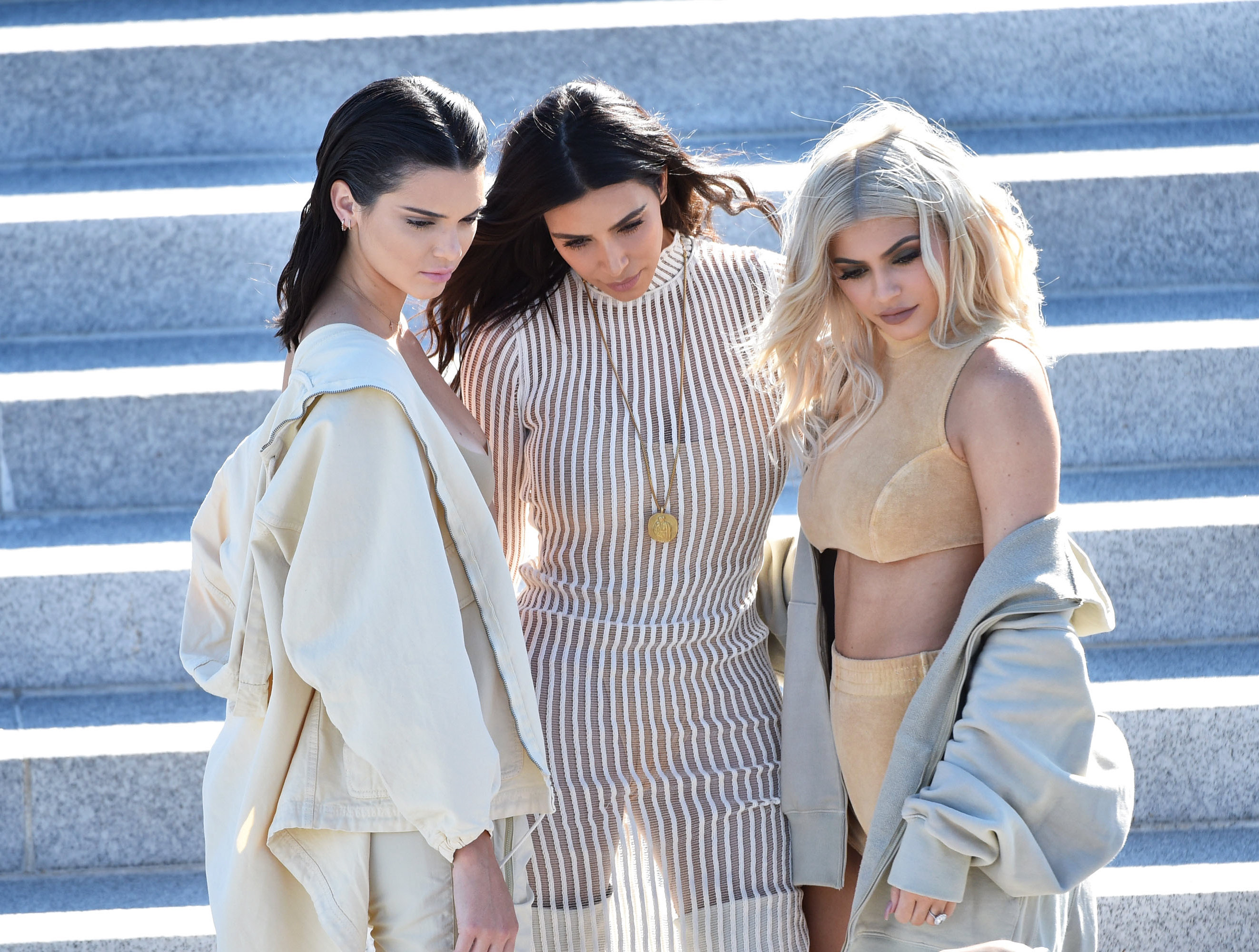 Kendall Jenner, Kim Kardashian and Kylie Jenner - September 7, 2016
