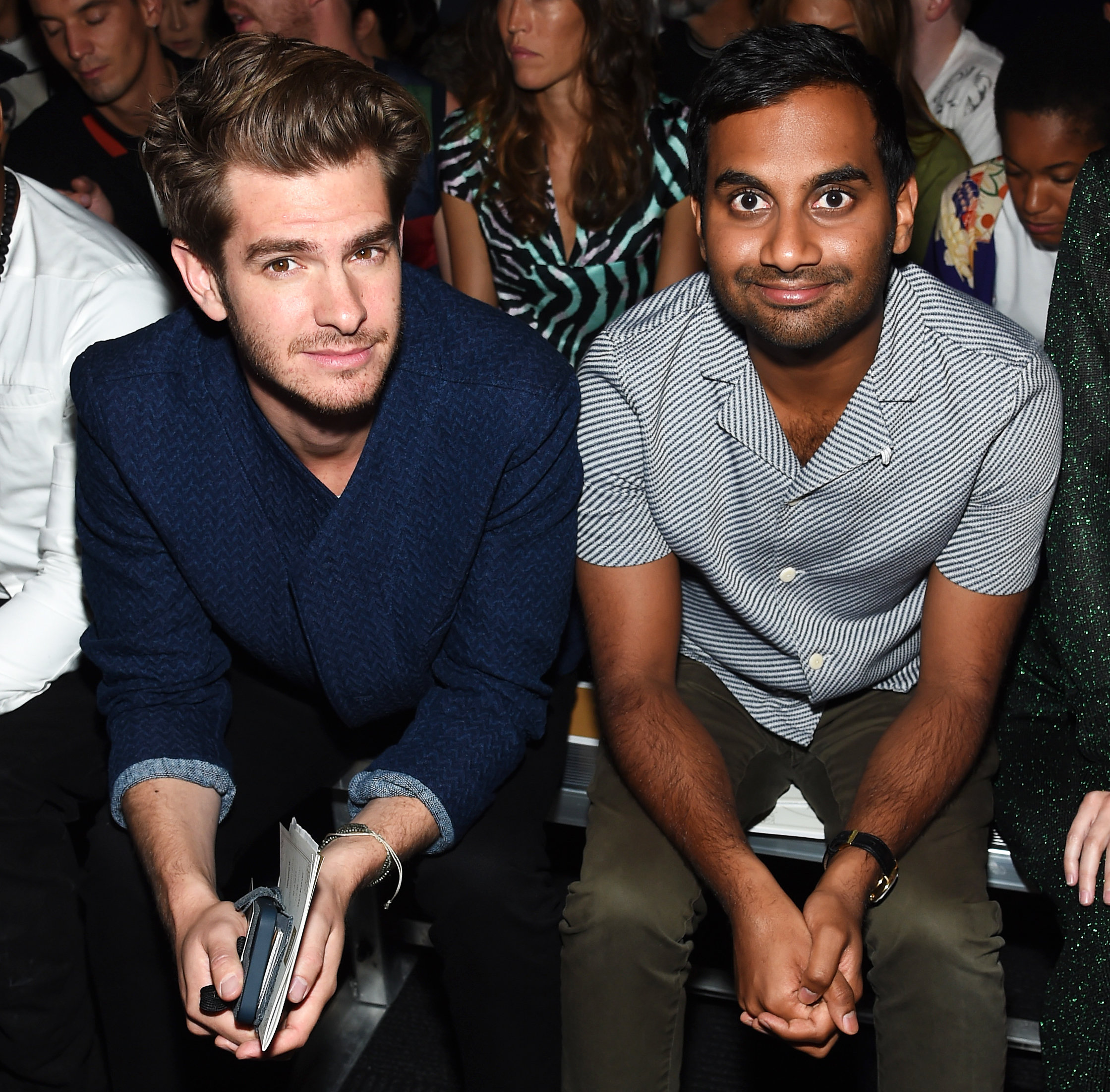 NYFW Opening Ceremony - Andrew Garfield and Aziz Ansari - September 11, 2016