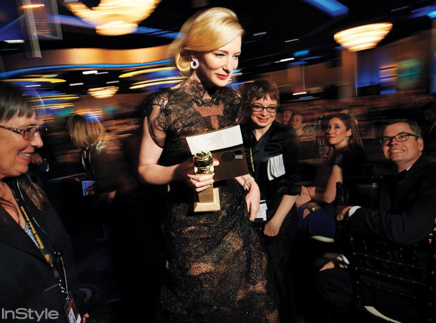 Golden Globes Back Stage - Cate Blanchett