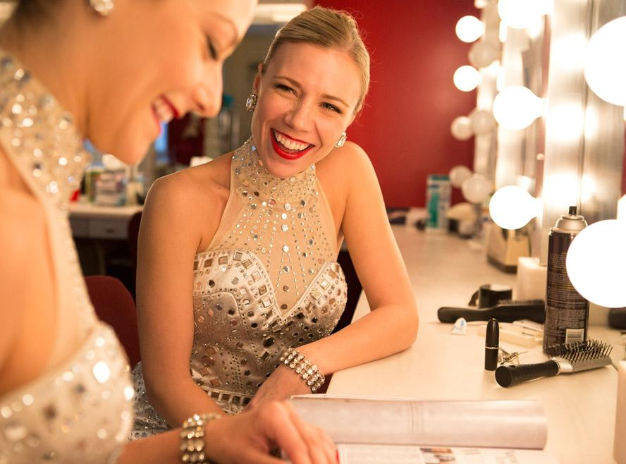 Rockettes Christmas Backstage