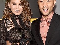 LOS ANGELES, CA - FEBRUARY 12:  Model/Media Personality Chrissy Teigen and musician John Legend attends The 59th GRAMMY Awards at STAPLES Center on February 12, 2017 in Los Angeles, California.  (Photo by Alberto E. Rodriguez/Getty Images for NARAS)