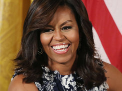 """WASHINGTON, DC - JULY 19:  First lady Michelle Obama participates in an event with future college students in the East Room at the White House July 19, 2016 in Washington, DC. The first lady hosted the third annual """"Beating the Odds"""" summit with more than"""