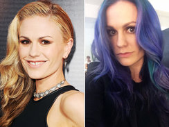 Anna Paquin Purple Hair