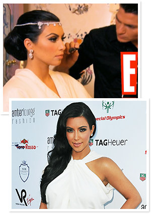 Kim Kardashian Wedding Hair