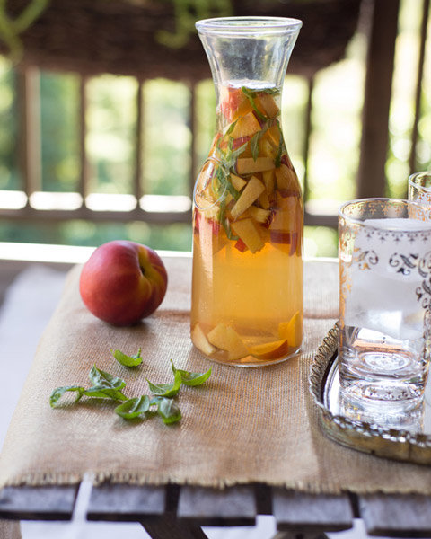 Peach Basil Sangria - The Forest Feast