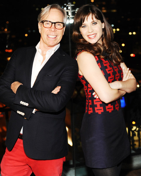 Tommy Hilfiger and Zooey Deschanel