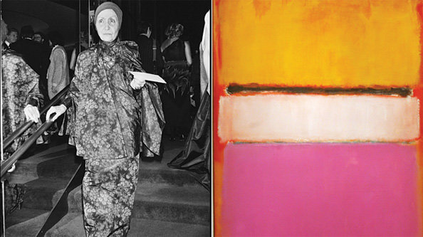 Madame Gr  s and a Mark Rothko painting.