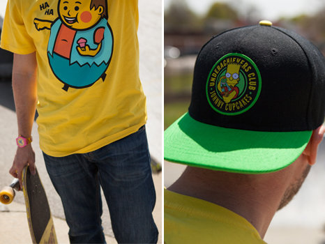 Johnny Cupcakes Simpsons collaboration