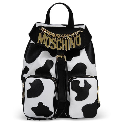 Moschino cow prints on the runway