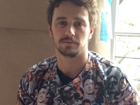 James Franco in James Franco Shirt