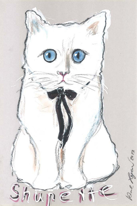 Karl Lagerfeld and Choupette for Shu Uemura