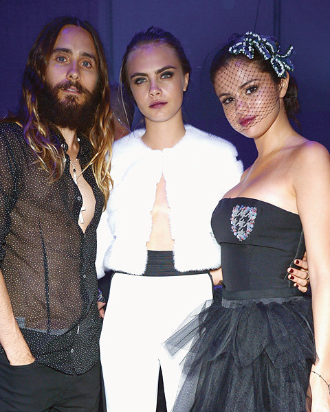 Jared Leto, Cara Delevingne and Selena Gomez